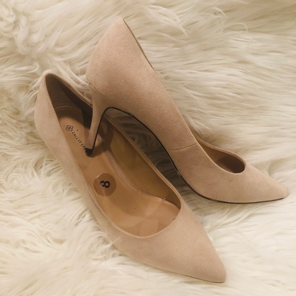Call It Spring Shoes - ⭐️Call It Spring Nude Suede Pumps